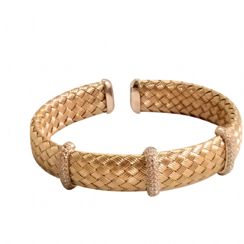 Mavil Weave Silver Bangle
